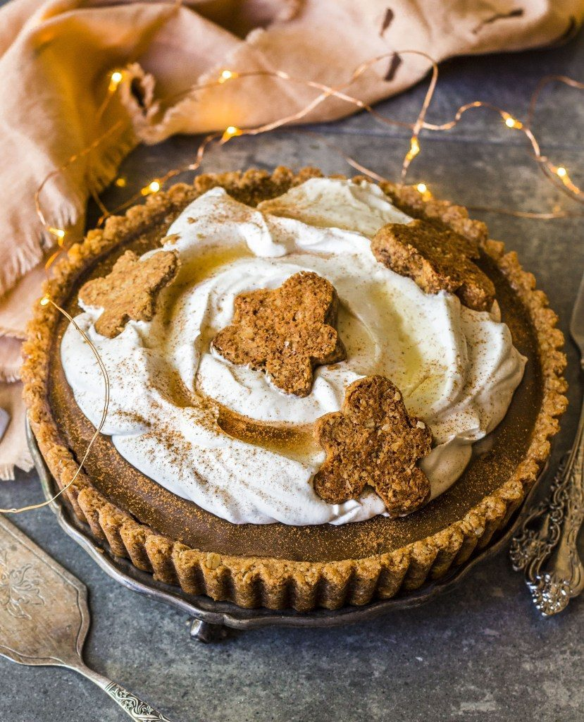 gingerbread vegan caramel tart